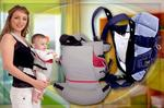 mom with baby on carrier